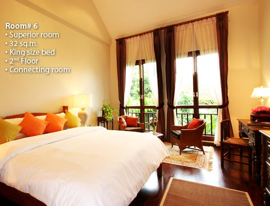 Baan Klang Wiang is a colonial style boutique hotel positioned in the center point of Chiang Mai, Thailand